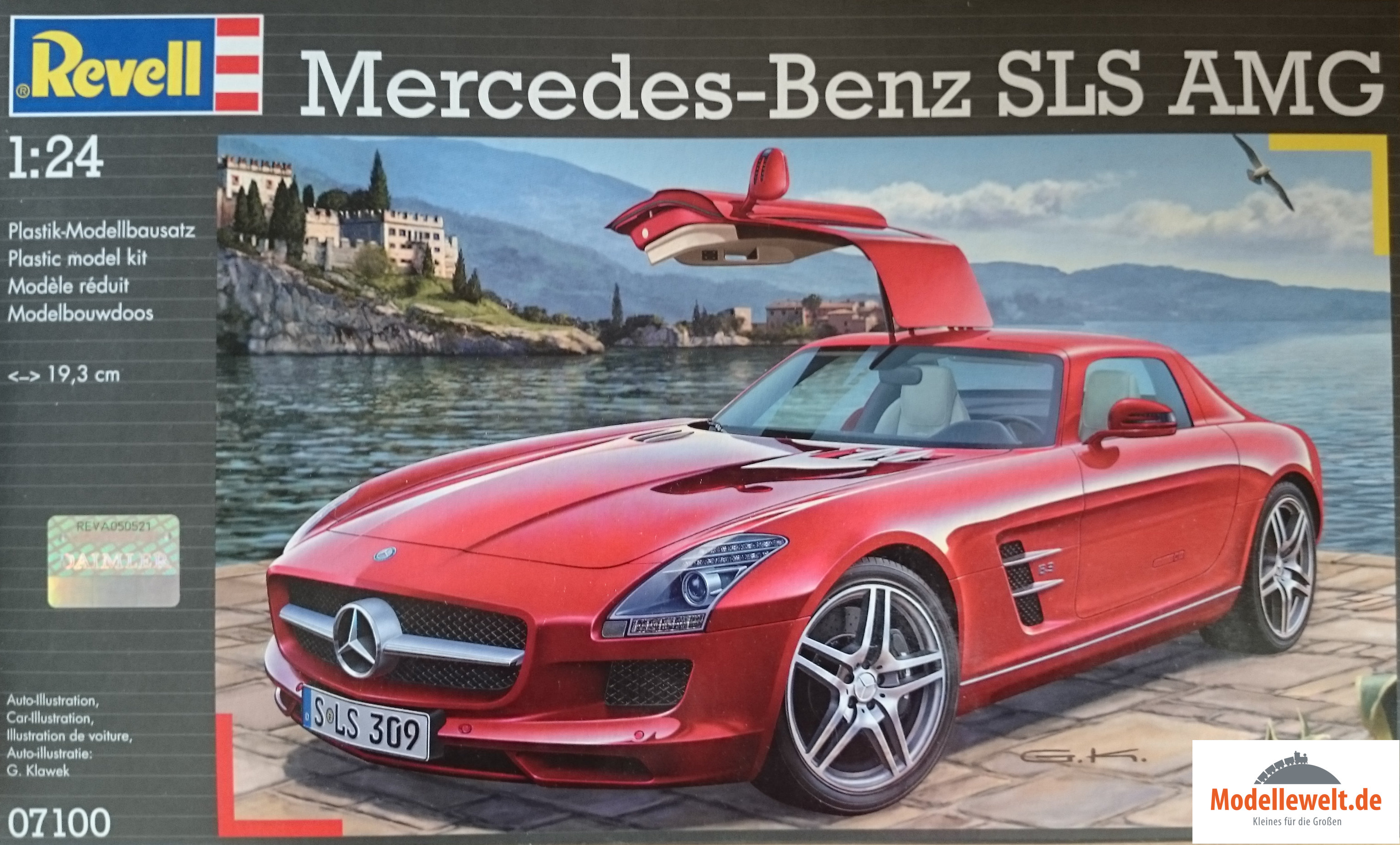 revell mercedes benz sls amg 07100 baus tze modellewelt. Black Bedroom Furniture Sets. Home Design Ideas